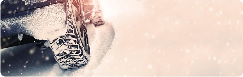 Auto Banner Sneeuw