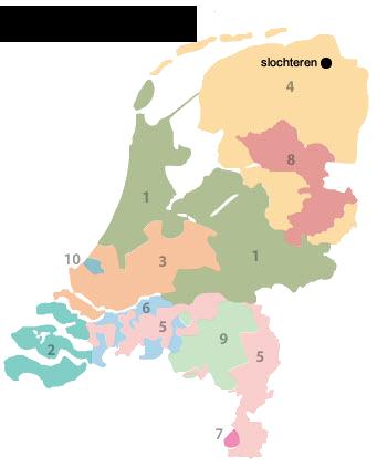 Gasregio's in Nederland