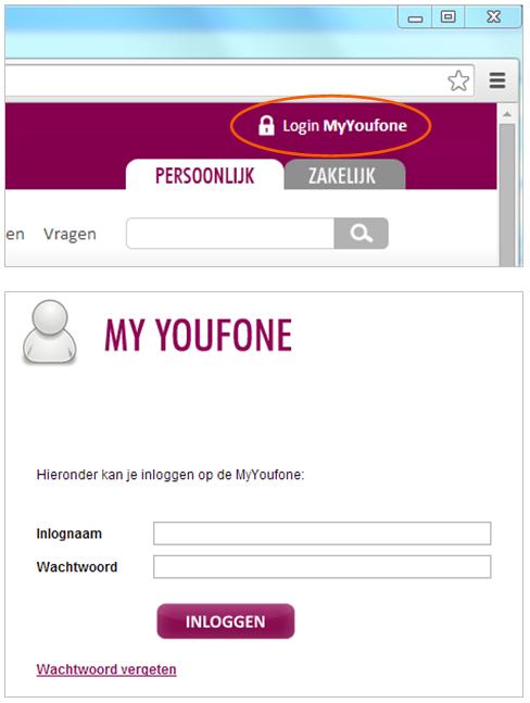 My Youfone inlogpagina