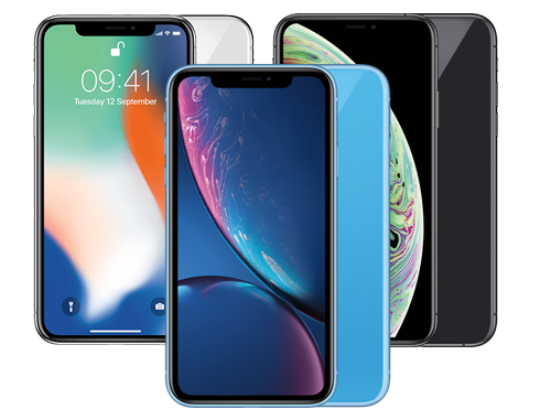 iPhone X, XR of XS
