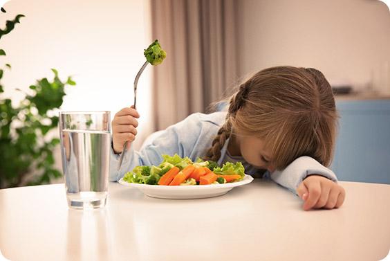 kinderen groenten