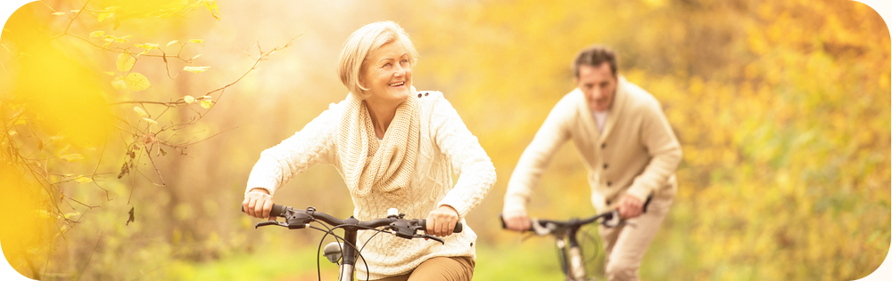 fietsen echtpaar