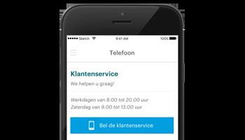 Servicenummers VGZ Zorg app