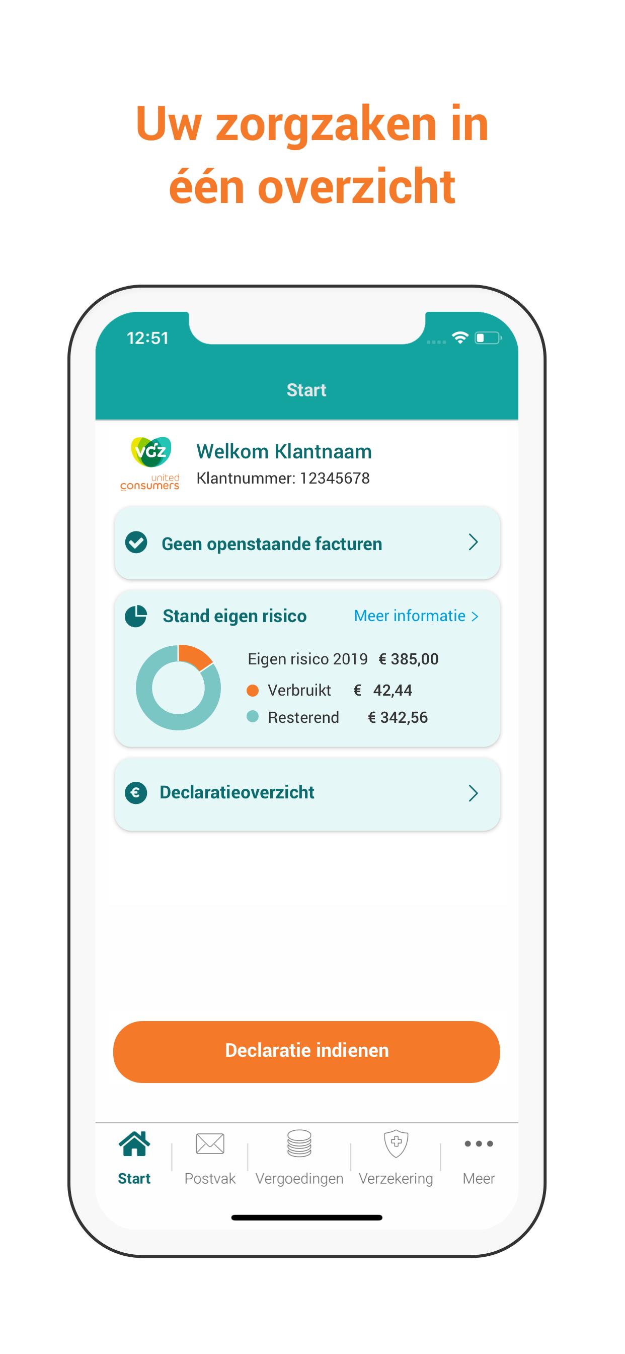 Overzicht UC Zorg App