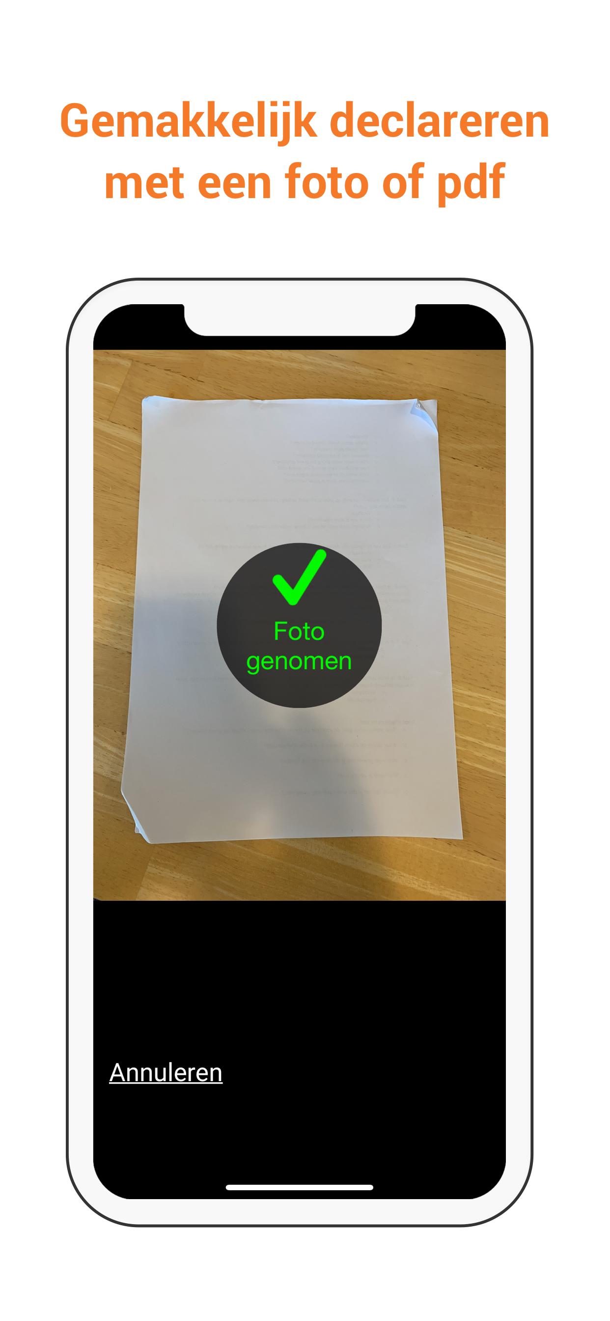 Foto maken UC Zorg App