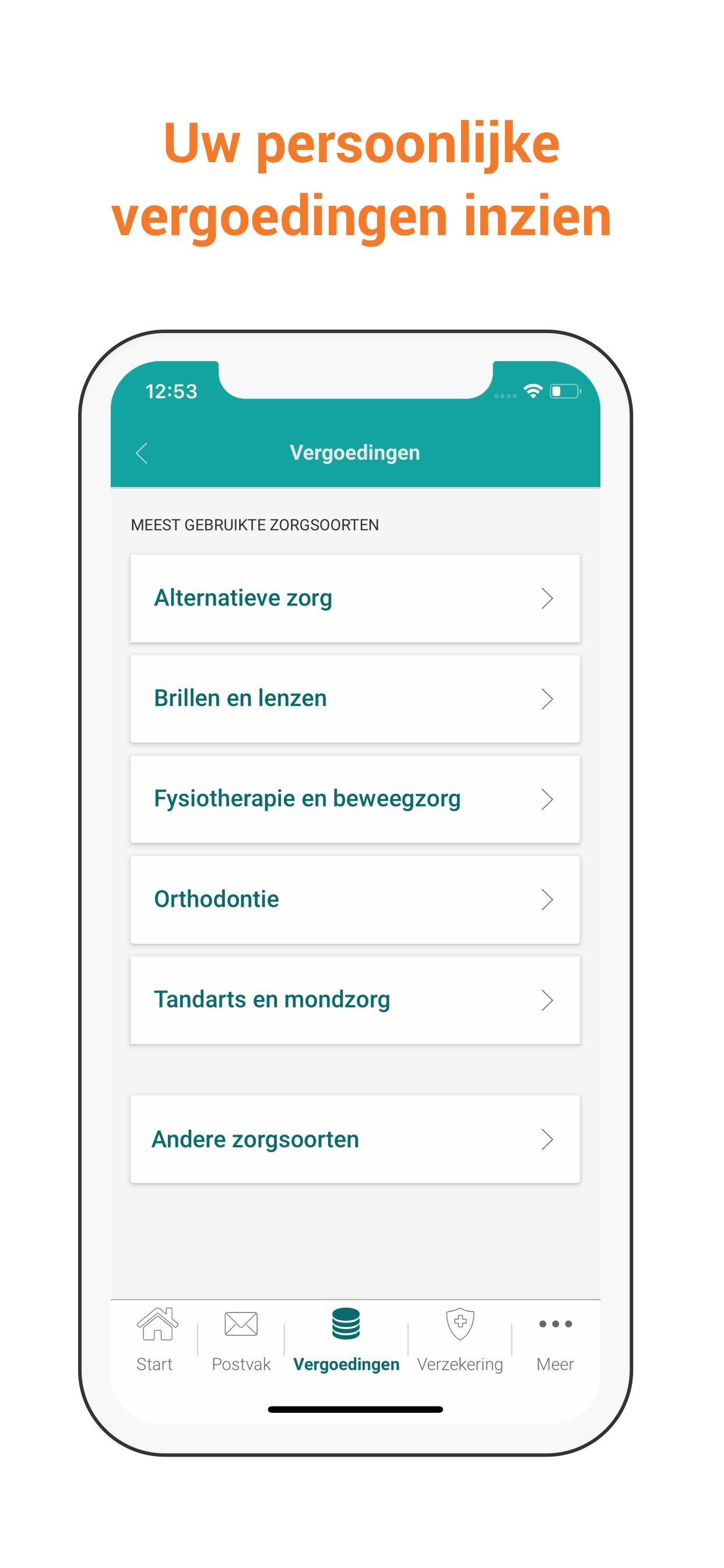Vergoedingen UC Zorg App
