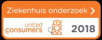 UnitedConsumers ziekenhuisonderzoek 2018 middel logo